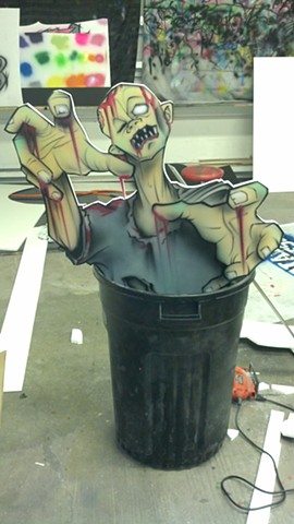 Zombie Trash Can Dude