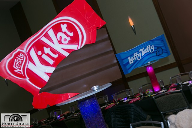 KitKat and Laffy Taffy Centerpieces