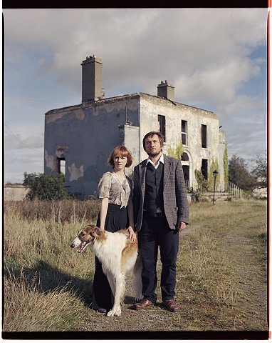 Portrait with Borzoi, Themed into 20s Russian recession