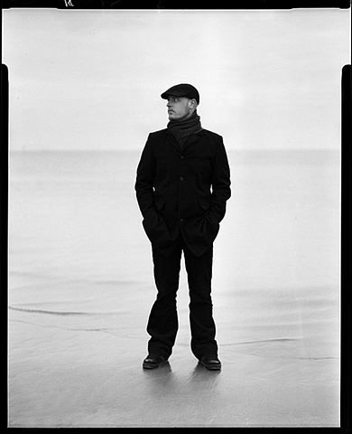 film portrait 4x5 sheet negative rodinal developing B&W ireland dublin portrait beach
