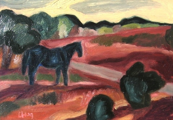 horse in landscape
