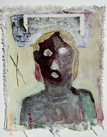 woman - mixed media on canvas