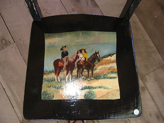 cowboy&girl on chair