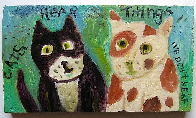cats hear things