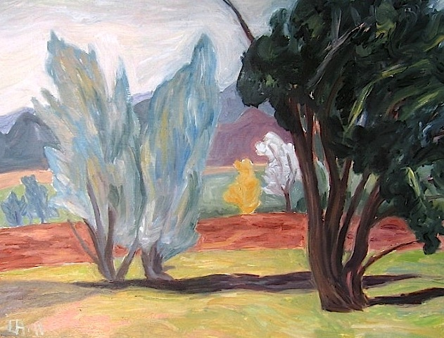 trees in pasture