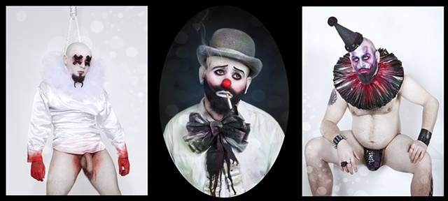photograph of sexualized clowns by christopher andres
