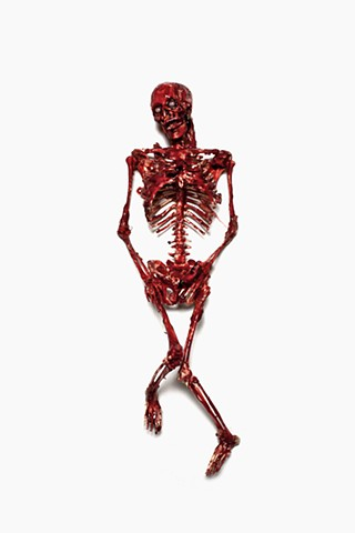 photograph of bloody skeleton by christopher andres