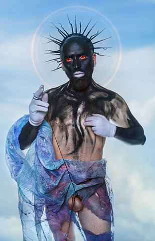 photograph of Blackface Christ by christopher andres