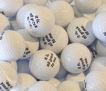 Artists Multiple 120 Customized golf balls Estevan Saskatchewan 2016