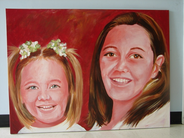 Portrait of the same children in another painting thione is for his mom