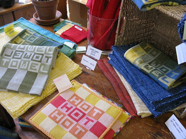 handweaving shop, gallery, placemats, towels, housewares