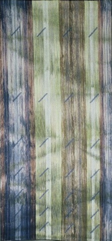 handwoven wall hanging, handpainted warp, nature inspired, drawloom weaving, by Kathie Roig