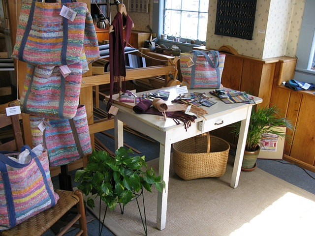 handweaving shop, gallery, accessories, tote bag, scarf, purses
