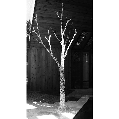 flamework flameworking glass sculpture tree