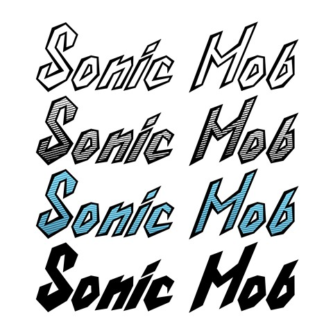 """Sonic Mob"" - (band logo type)"