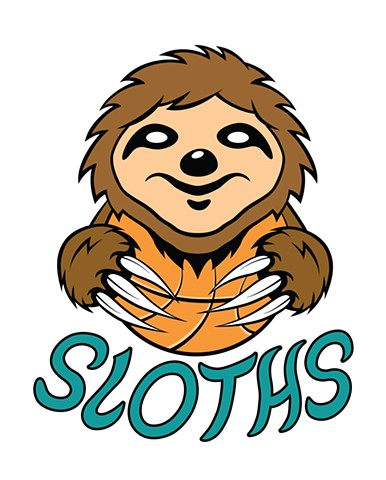 """Sloth Basketball Logo"""