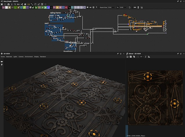Substance Graph without transparency