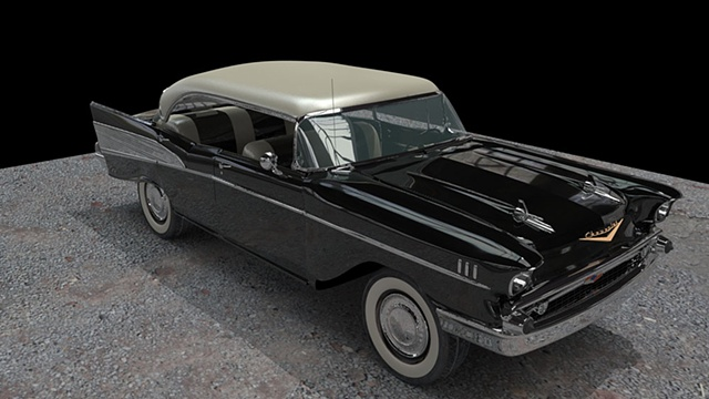 57 Chevy Bel Air Black