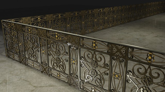 Procedural hand railing created in Substance
