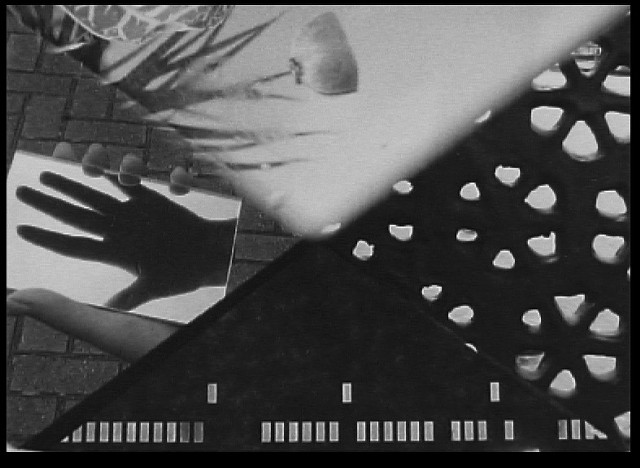 Invisible Dialogue  Emilie Atkinson, Karel Doing, Rosalind Fowler, & James Holcombe, 2014 16mm b & w, optical sound 100'