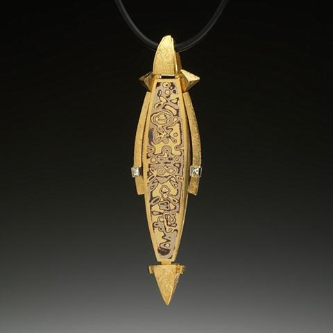 Mokume gane pendants