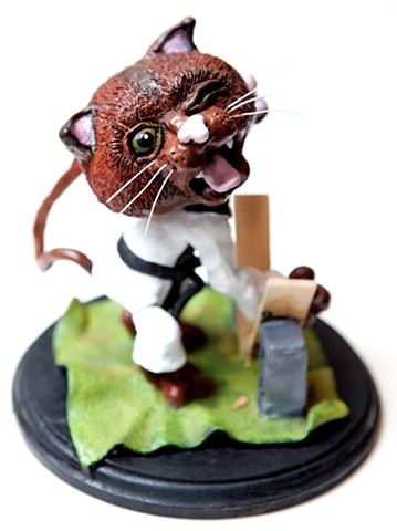 Furio, the Karate Kitty (5)  Sculpey and Acrylic Paint