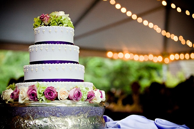 Hydrangea and Rose Cake Decor Stacey Bode Photography