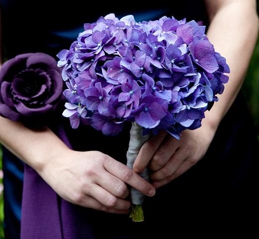 Purple Hydrangea Bridesmaid Posey