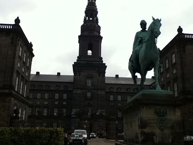 Christiansborg Palace now houses the Danish Parliament