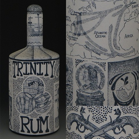 ceramics, clay, porcelain, painting, illustration, history, alcohol, rum