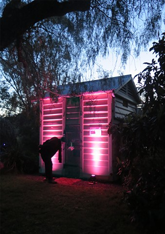 The Old Hurstbridge lock- up in pink
