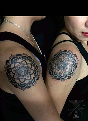 Matching mandalas. Same-same, but different.