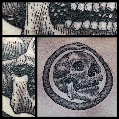 Skull & Ouroboros - with detail shot.