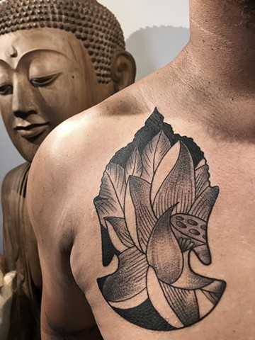 Lotus within the Buddha