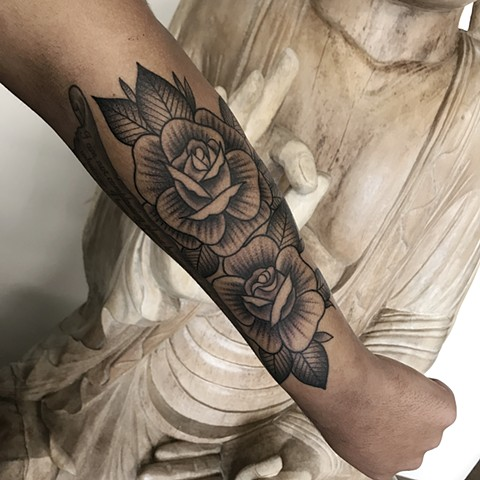 Roses to adorn the forearm.