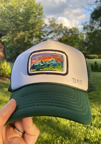 (SOLD)Green Camping Artist Hat
