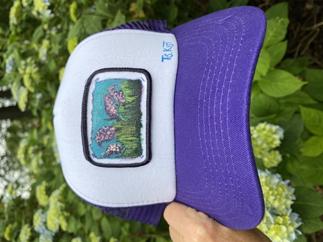 (SOLD)Hyacinth Artist Hat