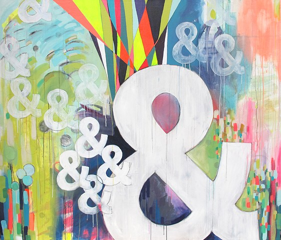 Ampersand, bright, contemporary, cool painting, fresh art, large scale