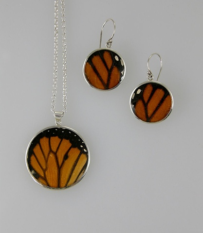 Monarch Butterflies (Pendant and Earrings)