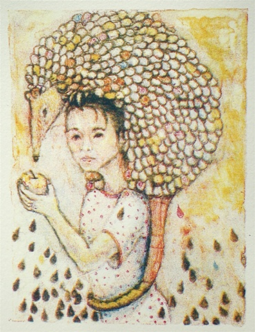 My Pet Peeve, imaginary friend, lithograph, color lithograph, Akemi Ohira, lithography,