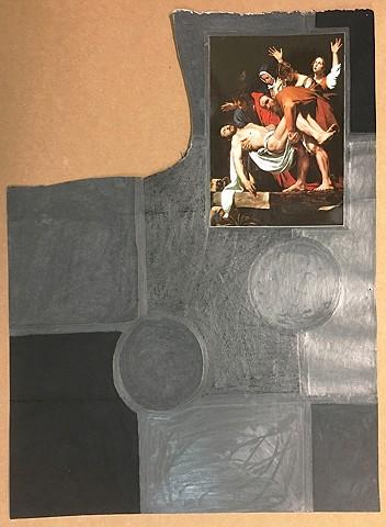 Black Caravaggio, 8 Squares, 2 Circles