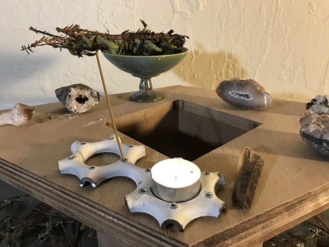Steel Candle & Incense Holder