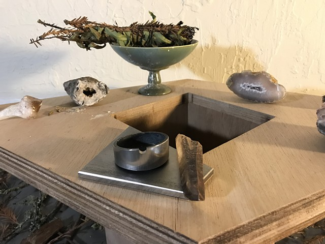 Steel Ash Tray for the ceremonial puff