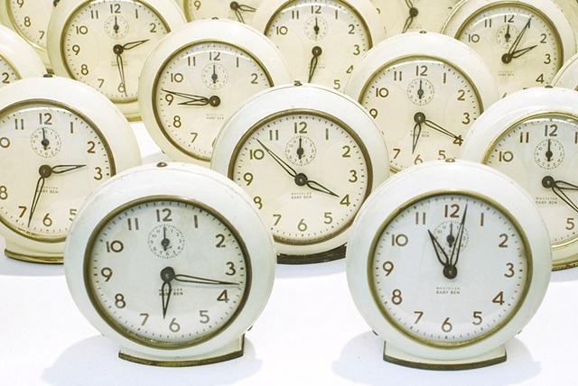 Baby Ben Field k.nicol, www.k-nicol.com clock grid installation