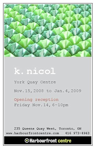Exhibition invite tic tic toc ken nicol, k-nicol, www.k-nicol.com