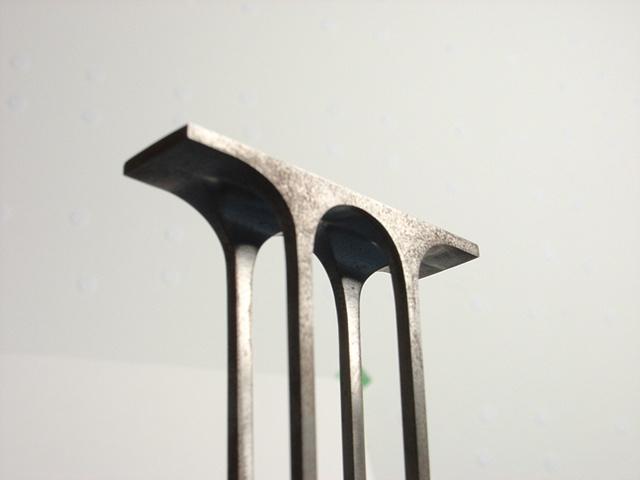 ken nicol, k. nicol, metal, Bridge, sculpture, stainless steel, obsession, order, pixel, atari, nintendo, space invaders, artwork, architecture