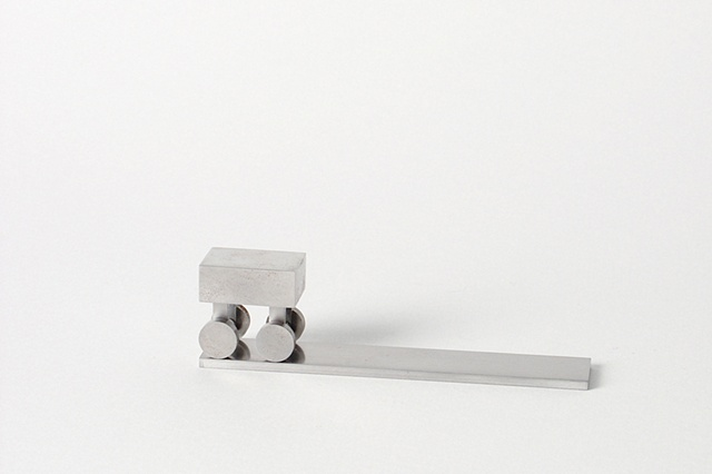 Sad Toy, 3, Ken Nicol, K. Nicol, Conceptual Artists, Sculpture, Object, Stainless Steel, Metal, Order, Patterned Theory, Typographic Art