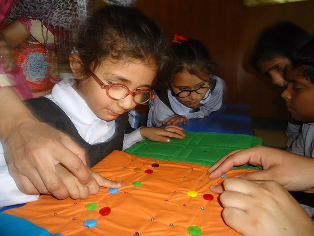 Specially designed Braille books by Fauzia Minallah, which were donated to Almaktoom centre in Islamabad. Where Fauzia also set up a special Amai Braille books Library.
