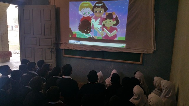 Screening of Amai the Bird of Light' in Fazilia Trust School, Taxila