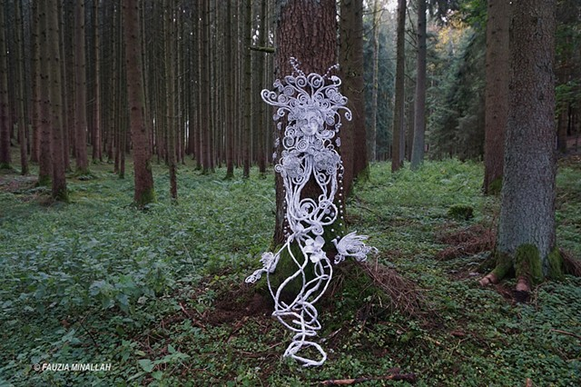 Tree spirit in a forest in Germany